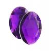Acrylic 14x10mm Oval Facet Purple